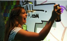 Digital Graffiti Wall